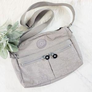 Kipling Gray Angie Crossbody Bag Purse
